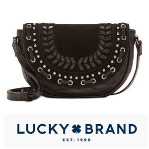 **HP!** Lucky Brand Kady Leather & Suede Crossbody